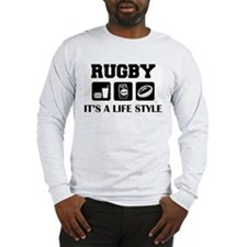 Food Beer Rugby Long Sleeve T-Shirt