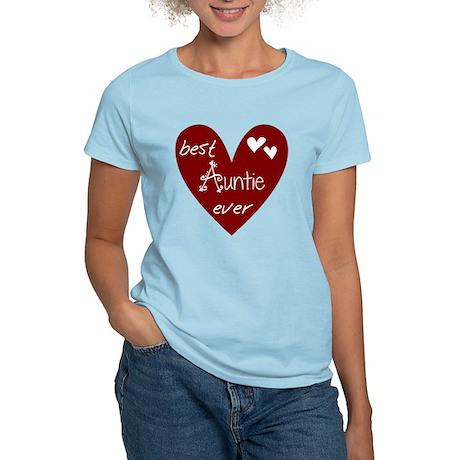 Red Heart Best Auntie Ever Women's Light T-Shirt