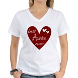 Aunt Womens V-Neck T-shirts