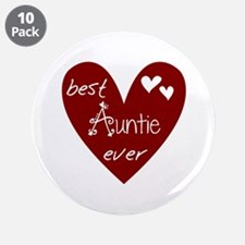 """Red Heart Best Auntie Ever 3.5"""" Button (10 pack)"""
