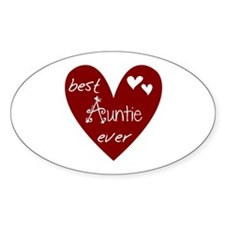 Red Heart Best Auntie Ever Decal