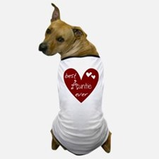 Red Heart Best Auntie Ever Dog T-Shirt