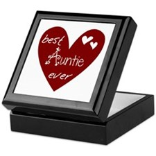 Red Heart Best Auntie Ever Keepsake Box