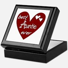 Red Heart Best Auntie Ever Keepsake Box