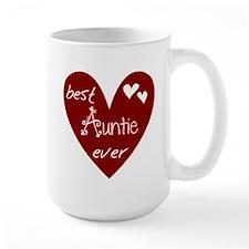 Red Heart Best Auntie Ever Mug