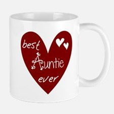 Red Heart Best Auntie Ever Mug