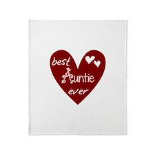 Red Heart Best Auntie Ever Throw Blanket