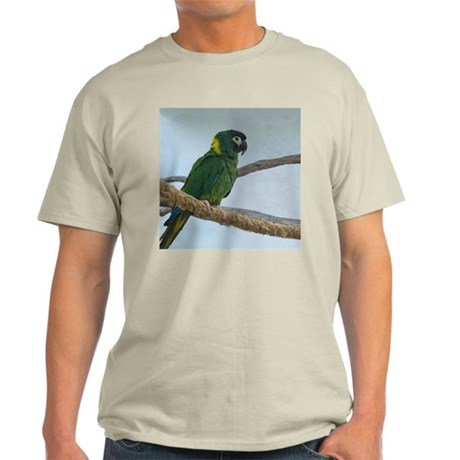 Yellow Collared Macaw Ash Grey T-Shirt