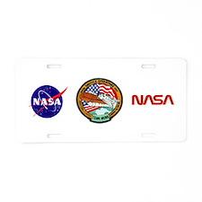 KSC Shuttle Operations Aluminum License Plate