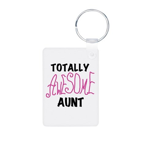 Totally Awesome Aunt Aluminum Photo Keychain