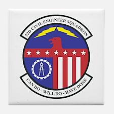 52d Civil Engineer Tile Coaster