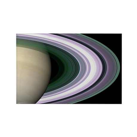 Saturn's Rings Rectangle Magnet