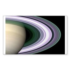 Saturn's Rings Rectangle Decal