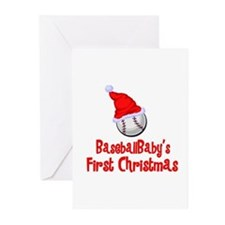 BaseballBaby's First Christmas Greeting Cards (Pac