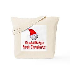 BaseballBaby's First Christmas Tote Bag