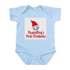 BaseballBaby's First Christmas Infant Bodysuit
