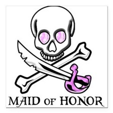"""Maid of Honor Square Car Magnet 3"""" x 3"""""""