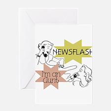 Newsflash I'm an Aunt Greeting Card