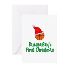 BasketballBaby's First Christmas Greeting Cards (P
