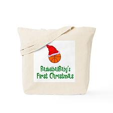 BasketballBaby's First Christmas Tote Bag