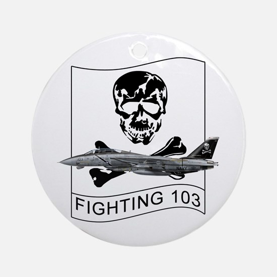 Vf-103 Jolly Rogers Ornament (Round)