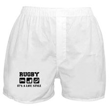 Sleep Eat Rugby Boxer Shorts