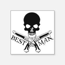 """Pirate Best Man Square Sticker 3"""" x 3"""""""