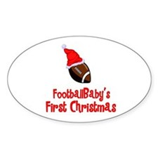 FootballBaby's First Christmas Oval Sticker
