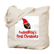 FootballBaby's First Christmas Tote Bag