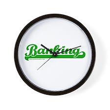 Banking Softball Wall Clock