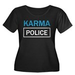 OK Computer Karma Police blue and white Plus Size
