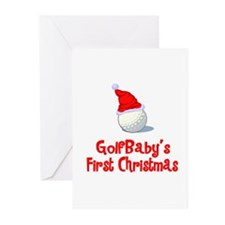 GolfBaby's First Christmas Greeting Cards (Package