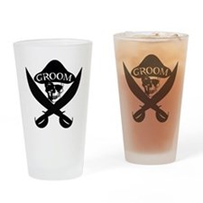 Pirate Groom Drinking Glass
