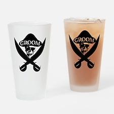 Pirate Groom Drinking Glass