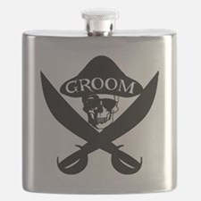Pirate Groom Flask