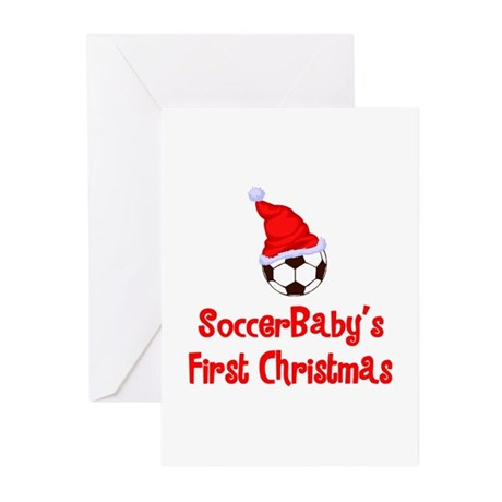 SoccerBaby's First Christmas Greeting Cards (Packa