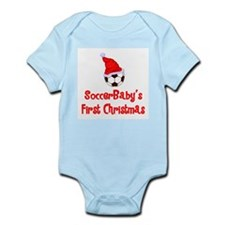 SoccerBaby's First Christmas Infant Bodysuit