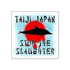 "Taiji Slaughter Square Sticker 3"" x 3"""