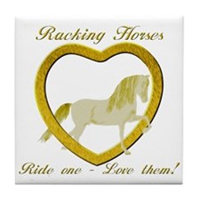 Racking Horse Ride Love Tile Coaster