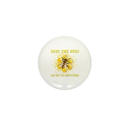 Save The Bees Mini Button (10 pack)
