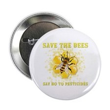 """Save The Bees 2.25"""" Button"""