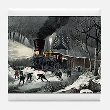 American railroad scene - snowbound - 1871 Tile Co