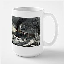 American railroad scene - snowbound - 1871 Mugs