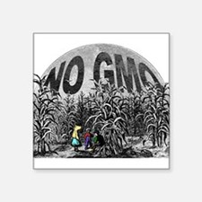 "NO GMO - Children Square Sticker 3"" x 3"""