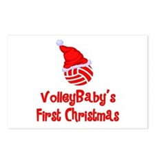 VolleyBaby's First Christmas Postcards (Package of
