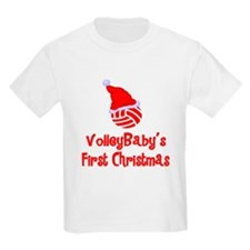 VolleyBaby's First Christmas Kids T-Shirt