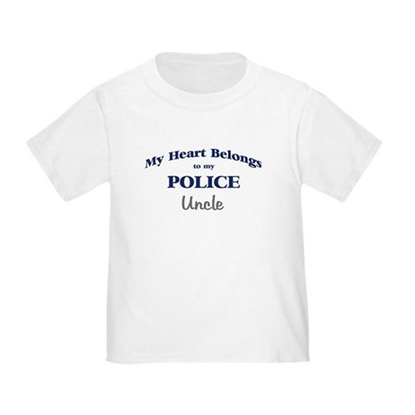 Police Heart: Uncle Toddler T-Shirt