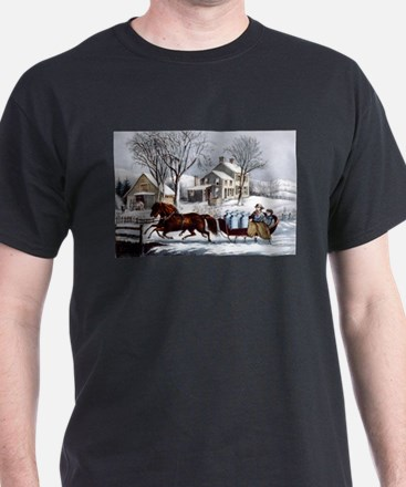 Winter morning in the country - 1873 T-Shirt