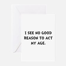 Act Age Greeting Cards (Pk of 20)