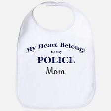 Police Heart: Mom Bib